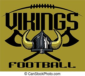 vikings football team design with helmet for school, college or league