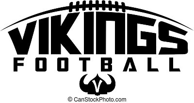 vikings football team design with laces and helmet for ...