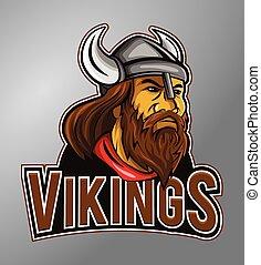 vikings, mascotte