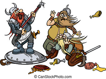 Viking's music - Musician sings in front of the Vikings