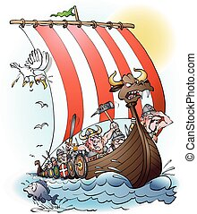 Vikings raid Vikings raid - Vikings raid cartoon...