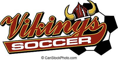 vikings soccer team design in script with tail for school,...