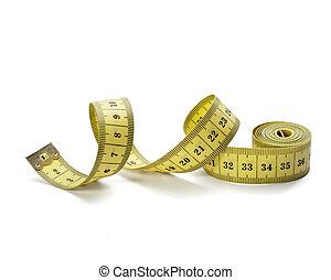 vikt, fitness, kost, längd, skräddare, band måtten