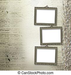 viktorian, inramar, med, bukett av, pilar, på, den, abstrakt, bakgrund