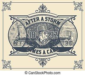 viktorianischer stil, card.