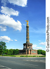 Viktory column in Berlin. Germany