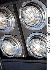 világítás, részletez, reflektorfény