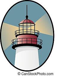 világítótorony, ikon