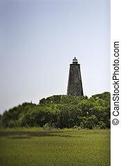 világítótorony, kopasz, island., fej