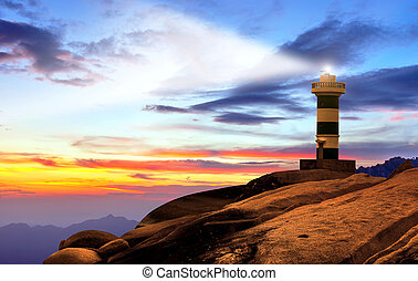 világítótorony, tenger