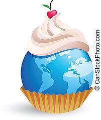 világ, cupcake