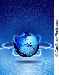 világ földgolyó, akció, technikai