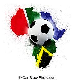 világ, futball, afrika, déli, csésze