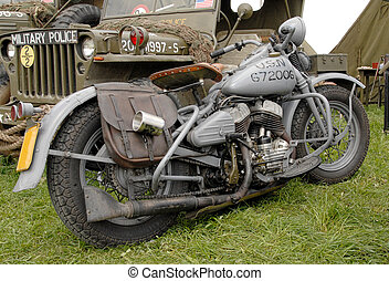 világ, háború, motorkerékpár, két, hadi