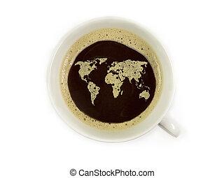 világ, közül, kávécserje