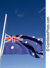 világ, nemzeti, ausztrália, -, zászlók