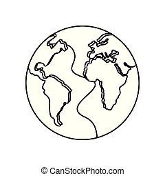 világ, szárazföld térkép