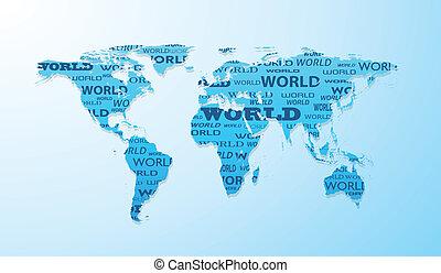 világ térkép, alakít, bemutatás