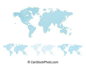 világ térkép, halftone