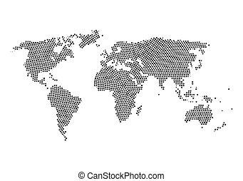 világ térkép, noha, csillaggal díszít, belsőrész., csillaggal díszít, felhő, alatt, világ térkép, alakít, tervezés