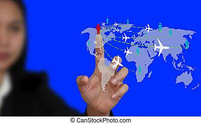 világ utazik, ügy