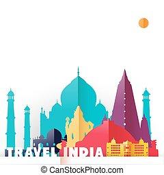 világ utazik, india, nyelvemlékek