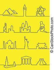 világ, városok