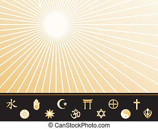 világ vallás, poszter