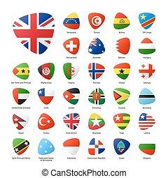 világ, zászlók, állhatatos