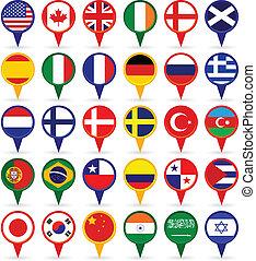 világ, zászlók