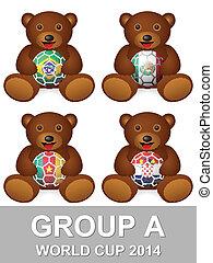világbajnokság, csoport, egy, hord