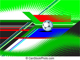 világbajnokság, futball, banner., színezett, vektor, ábra
