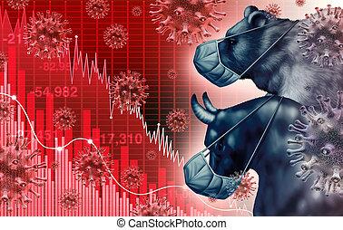 világgazdaság, országos járvány, félelem