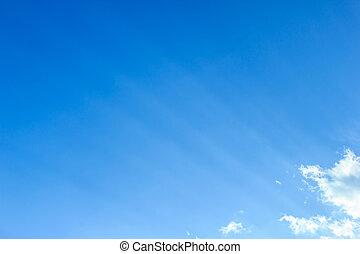 világos, kék ég