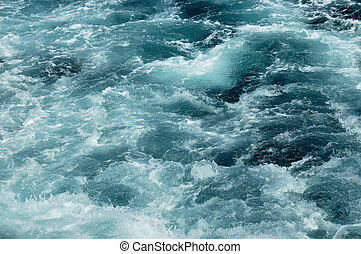 világos víz, futás, alatt, a, folyó