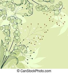 világoszöld, háttér, virágos, elegáns, menstruáció, körvonal