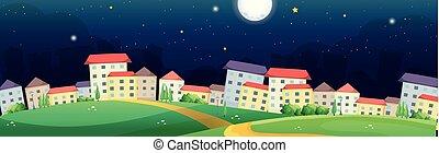 vila, cena noite, tempo