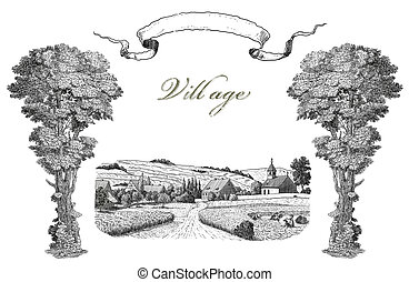 vila, ilustração