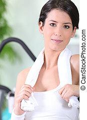 Vila, kvinna, efter,  fitness