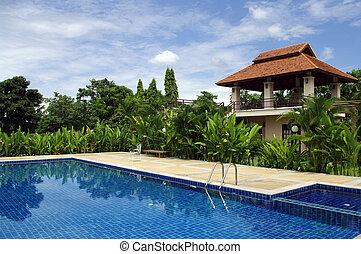 vila, piscina