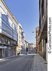 Rosdalia de Castro street at Vilagarcia de Arousa