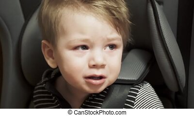 vilain, siège, enfant, voiture