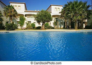 vilas, piscina, natação