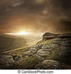 vild, dramatiske, landskab