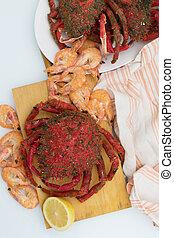 vild, färskt skaldjur, galician