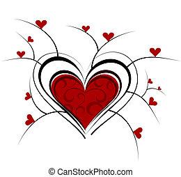 vild, hjärta