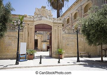 vilhena, pałac, mdina, malta