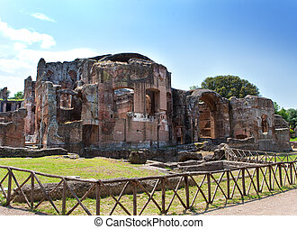 Villa Adriana- ruins of an imperial Adrian villa in Tivoli near Rome