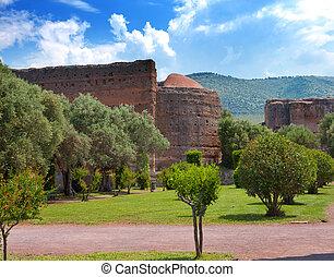 Villa Adriana- ruins of an imperial country house in Tivoli near Rome