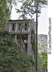 Villa Bled upper terrace in Slovenia. - Cafe Belvedere upper...